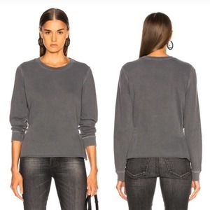 Amo Girlfriend Distressed Sweatshirt w/ Shirring S
